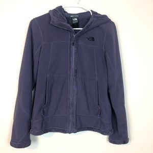 The North Face Hooded Fleece Jacket Purple Grey S